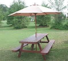 THE TABLE GUY - showroom | Picnic table with umbrella, Wooden ...